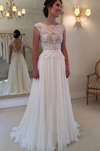 Lovely Lace Wedding Dress,White Wedding Dresses,A Line Wedding Dress,Cheap Wedding