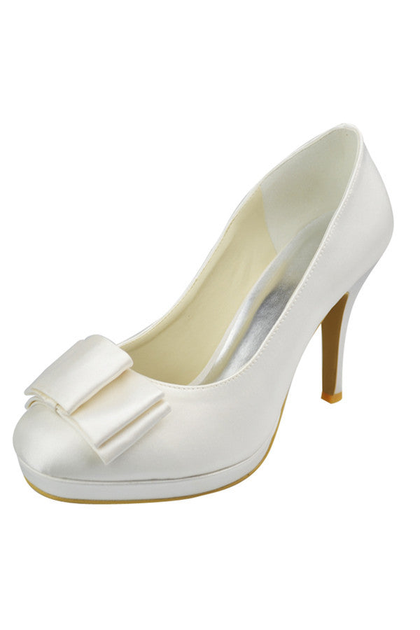 Simple Cheap High Heel Comfortable Close Toe Wedding Shoes S102
