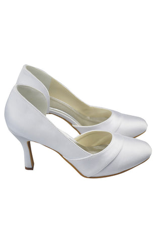 Real Made Simple Cheap Satin Close Toe Wedding Shoes S110