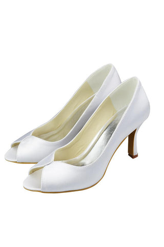 Simple Handmade Comfy White Cheap Wedding Shoes S78