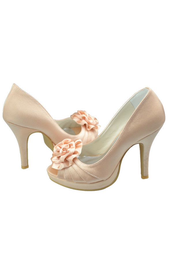 Pretty Elegant High Heel Peep Toe Wedding Shoes S92