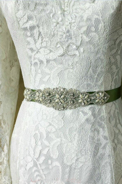 Rhinestone Wedding Sash Beading Applique Bridal Dress Belt BS13