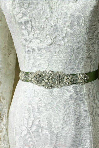 38d4720b48 Rhinestone Wedding Sash Beading Applique Bridal Dress Belt BS13