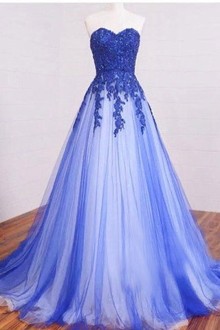 Long Prom Dress,Sweetheart Prom Gown,Lace Prom Dresses,Beading Prom Dresses,Elegant Prom Dress,Modest Prom Gowns,Royal Blue Prom Dresses