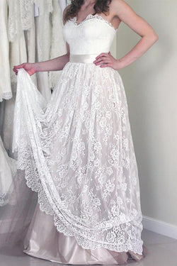 A-line Wedding Dresses,Sweetheart Wedding Dress,Long Wedding Gown,Modest Wedding   Dresses,Lace Wedding Dresses