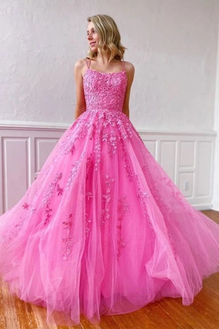Lace Appliques Long Prom Dresses Long Dance Dress, Formal Dress, Graduation School Party Gown OKU30