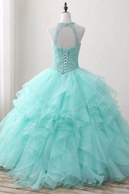 Ball Gown Long Beading Prom Dresses Cheap Formal Women Prom Dresses,Quinceanera Dress OK576