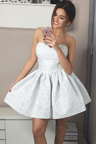 Fashion A-Line Sweetheart Mini Short Homecoming Dress,Graduation Dresses OKB33