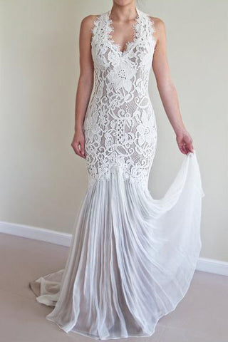 Mermaid Wedding Dresses,Lace Wedding Dress,Unique Wedding Dresses,Long Wedding Dresses