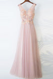 Pearl Pink Prom Dresses,A-line Prom Gown,Tulle Evening Dress,Lace Top Prom Dress,Beautiful Formal Dress