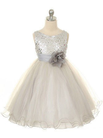 Ball Gown Flower Girl Dress,Tulle Flower Girl Dresses,Long Flower Girl Dress