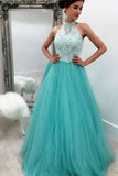 Prom Dresses ,prom gown, blue prom dress,tulle prom dress,lace prom dresses, long prom dress for teens, blue evening dress