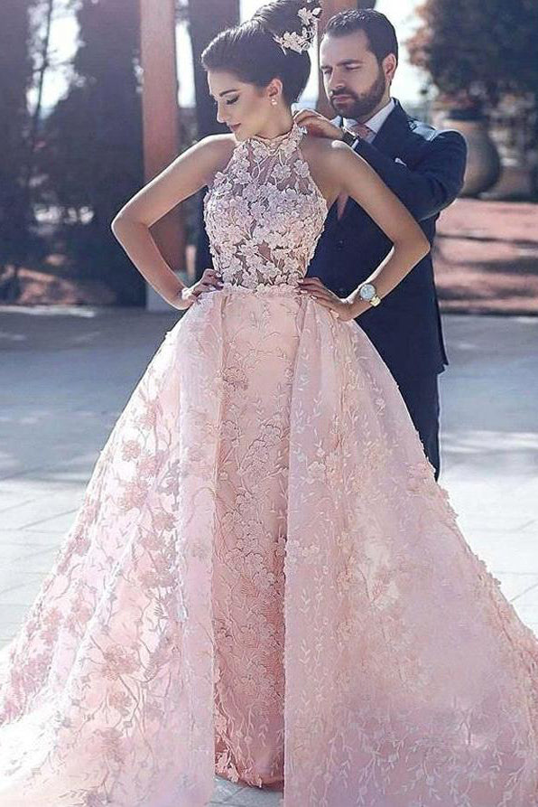 Luxury Wedding Dresses,Pink Wedding Dress,Lace Wedding Gown,Cheap Prom Dresses,Halter Prom Dresses,Pink Prom Dresses,Ball Gown Prom Dresses,Long Prom Dresses