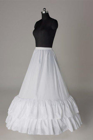 Fashion A Line Wedding Petticoat Accessories White Floor Length OKP7