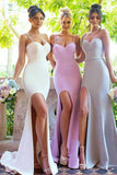 Sexy Bridesmaid Dresses,Mermaid Bridesmaid Dress,Spaghetti Straps Bridesmaid Dresses,Split Bridesmaid Dress