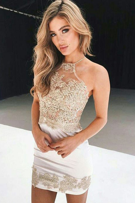 White Homecoming Dress,Short Prom Dress 2017,Sexy Homecoming Dress,Sparkly Homecoming Dresses,Short Cocktail Dresses