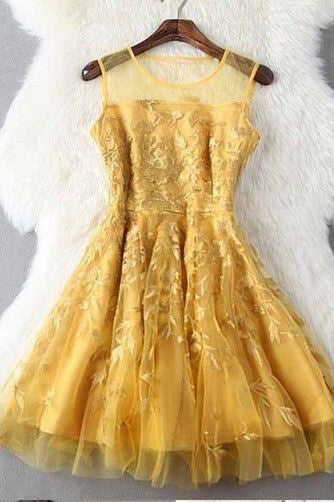 Fashion Homecoming Dresses,Gold Homecoming Dresses,A Line Homecoming Dress,Short Prom Dress,Appliques Homecoming Dresses