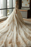 3/4 Sleeve Wedding Dress,Appliques Wedding Dress,Tulle Wedding Gowns,Ball Gown,Wedding Dresses,Plus Size Wedding Dress