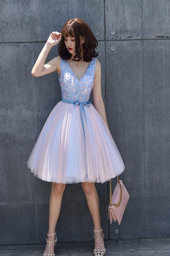 V-Neck Homecoming Dresses,Lace Homecoming Dress,Elegant Homecoming Dresses,Short Homecoming Dresses,A Line Prom Dress,Prom Dresses for Teens