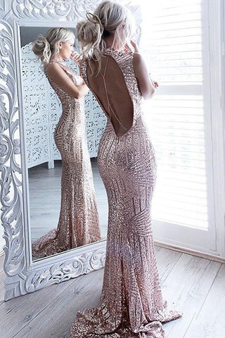 Mermaid Prom Dresses, Sparkle Prom Dress,Beaded Sequins Prom Dresses,Bodice Backless Prom Dress For Senior Teens,Sexy Evening Dresses,Prom Dress