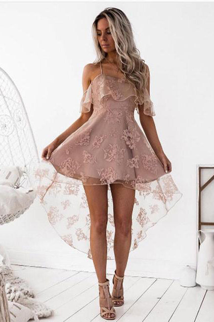 Sexy Homecoming Dresses,A line Homecoming Dress,Lace Homecoming Dresses,Short Homecoming Dress
