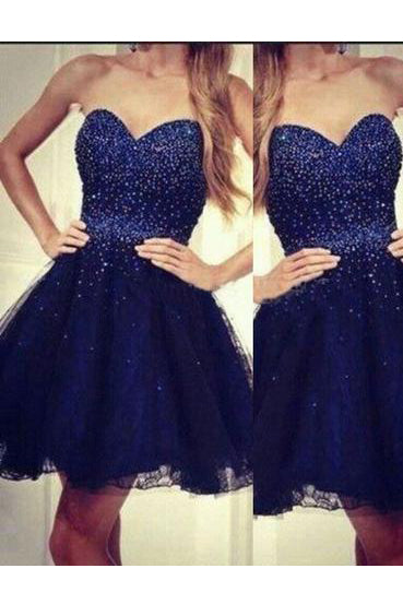 Modern Homecoming Dresses,Sweetheart Homecoming Dresses,A-line Homecoming Dresses,Beading Homecoming Dresses,Royal Blue Homecoming Dresses,Homecoming Dress For Teens