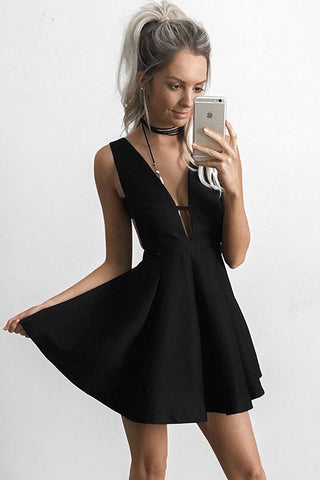 Sexy Homecoming Dress,Black Homecoming Dress,Short Homecoming Dresses,Simple Prom Dresses,A Line Homecoming Dresses,Sleeveless Homecoming Dresses,Black Cocktail Dress