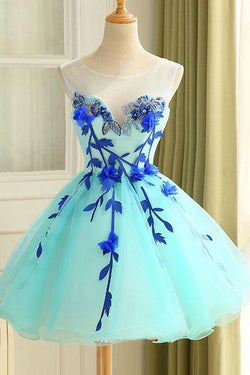 A Line Homecoming Dresses,Ball Gown Homecoming Dress,Beautiful Prom Dresses,Flower Homecoming Dress,Short Prom Dress,Graduation Dresses,Sweet 16 Dresses