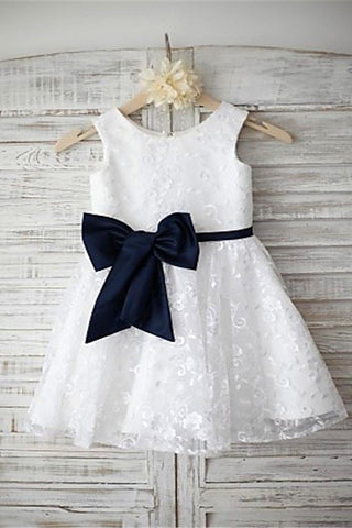 Lace Flower Girl Dress,White Flower Girl Dresses,A-line Flower Girl Dress