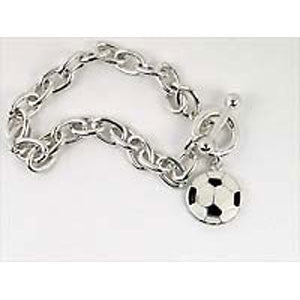 Black & White Soccer Bracelet - Unique Sports Accessories