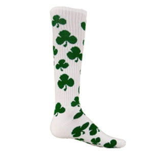 Red Lion Shamrock Knee Hi Socks - Unique Sports Accessories - 1