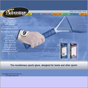 Advantage Tennis Glove Mens - Unique Sports Accessories - 1