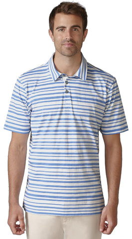 Ashworth Printed Slub Stripe Polo Shirt