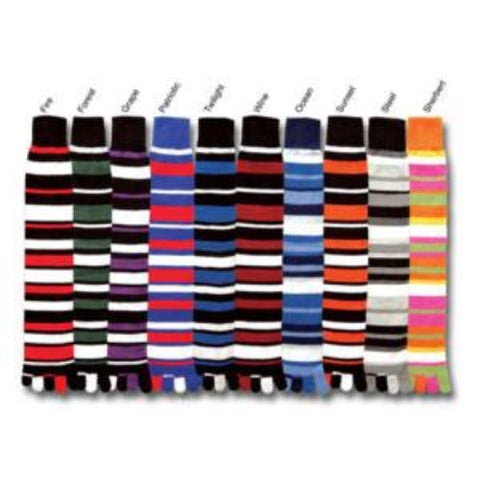 For Bare Feet Striped Knee Hi Toe Socks - Unique Sports Accessories - 1