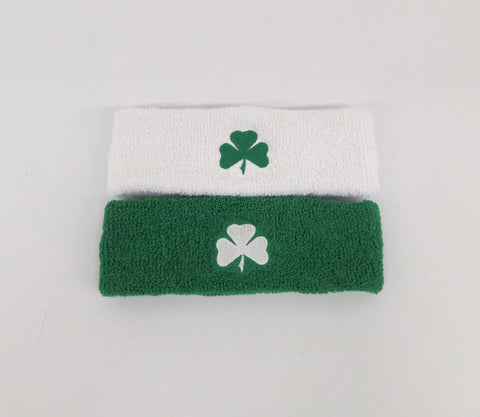 Shamrock Embroidered Cotton Blend Headbands - Unique Sports Accessories - 1