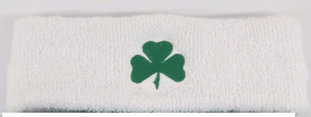 Shamrock Embroidered Cotton Blend Headbands - Unique Sports Accessories - 2