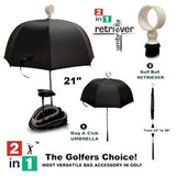 2-IN-1 Golf Bag Umbrella & Ball Retriever
