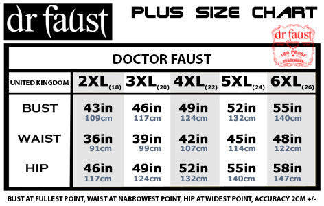 Doctor Faust Plus Size Chart
