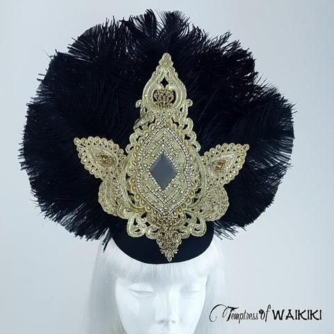 Vintage inspired Ostrich Feather Headpiece