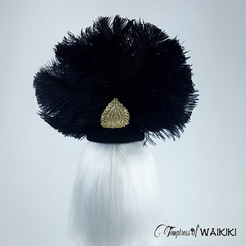 Stylish Black ostrich feather headpiece