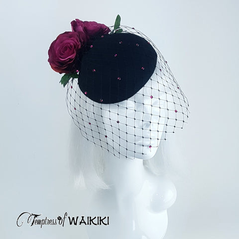 Sleek and stylish black felt hat