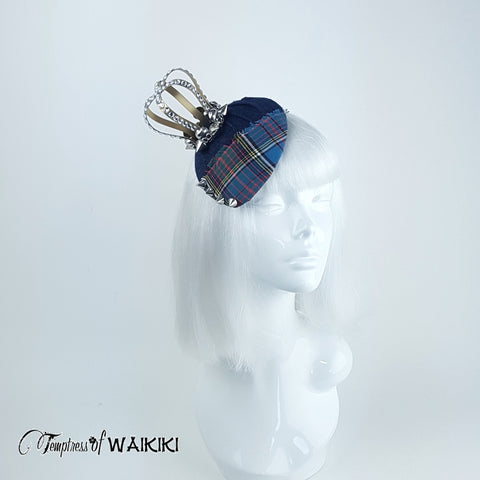 Unusual Tartan Crown hat