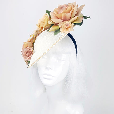 Ivory pearl butterfly hat (ToWSale06)