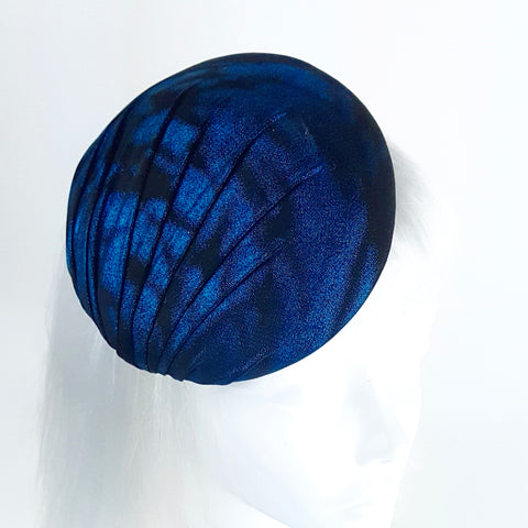 blue and black hat