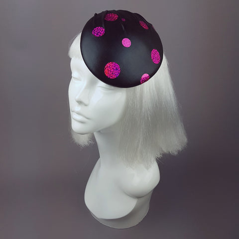 """Disco"" Black and Fuchsia Pink Sequin Hat"