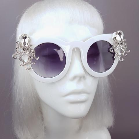 """Octopoda"" White Octopus (Mermaid Style) Sunglasses"