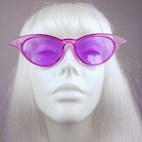 Pinky-Purple Transparent Cats Eye Sunglasses - SPECIAL OFFER