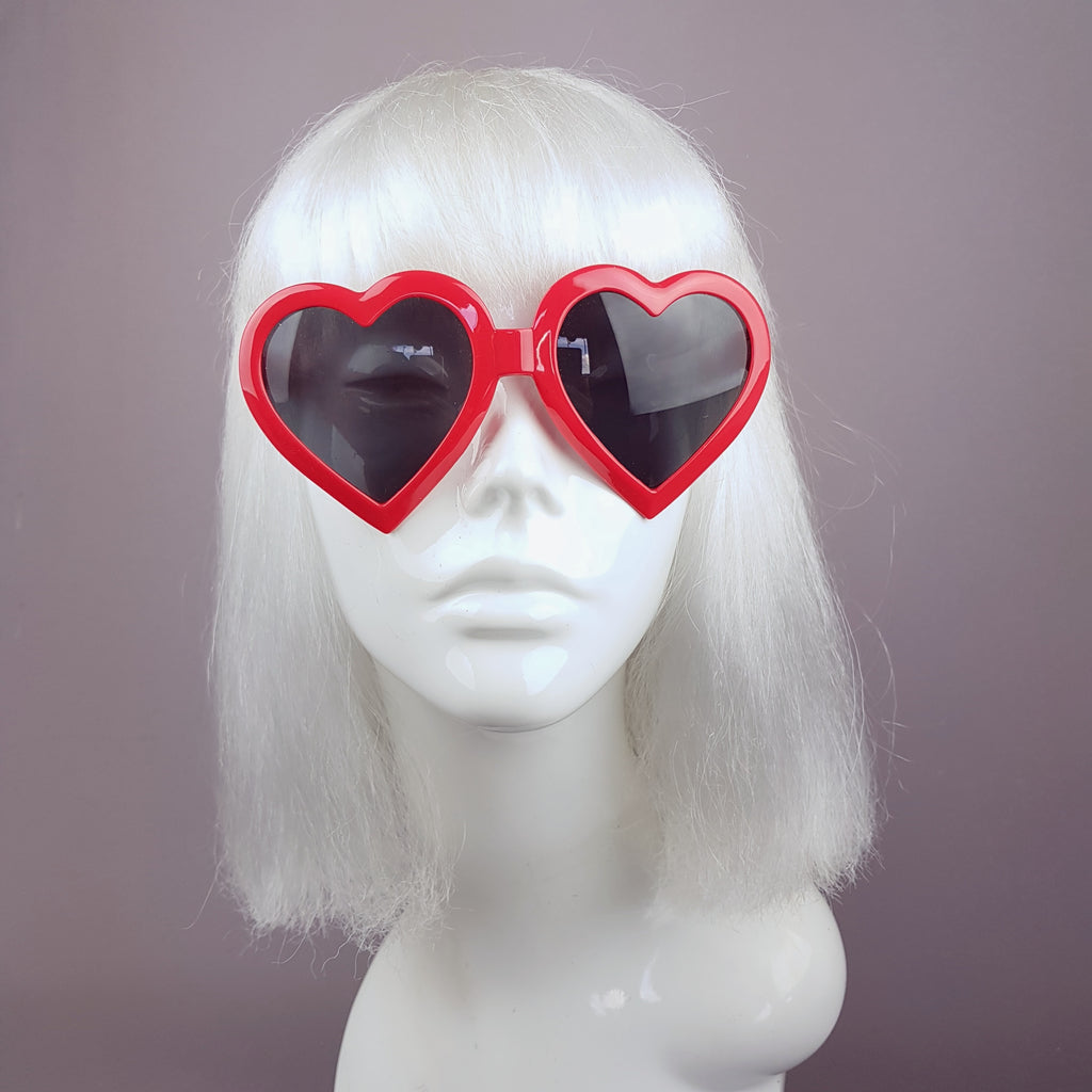 Red Heart Shaped Lenses Sunglasses - SPECIAL OFFER
