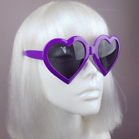 Purple Heart Shaped Lenses Sunglasses - SPECIAL OFFER
