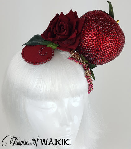 "Snow White Apple Crystal Headpiece ""Just One Bite"""